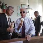 Joe Biden works to rub off his regular-guy persona on Jeff Merkley during ...