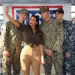 Kim Kardashian boosts morale of US troops in Abu Dhabi