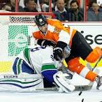 Flyers hammered by Vancouver, 4-0