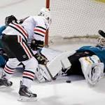 Niemi leads Sharks to 2-0 victory over Blackhawks