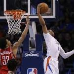 Westbrook's triple-double leads Thunder past Rockets 111-107