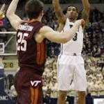 No. 25 Pitt beats Virginia Tech 62-57 in 2 OTs