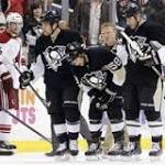 Pens overcome early deficit, unexpected losses to rally over Coyotes