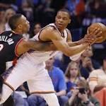 Three rotation players suffer injuries as Trail Blazers lose to Oklahoma City
