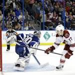 Lightning fall to Coyotes in shootout