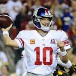 Manning, Giants roll by Redskins for key NFC East win