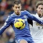 Hazard beats Swansea, no ballboys involved