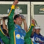 Aric Almirola wins Xfinity race at Daytona under caution