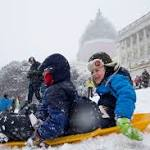 Capitol Hill sledders defy 'regulation against fun'
