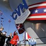 Aircraft carrier honoring former President Gerald Ford to be christened Saturday