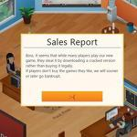 Game Dev Tycoon hacks pirates' version of game