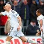Swansea City 2-1 Manchester United: Host side records comeback win