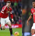Man Utd news: Wayne Rooney and Anthony Martial will miss Watford match as ...