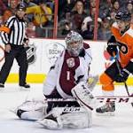 Flyers took control in 2nd period to down Avs