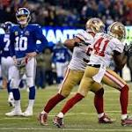 49ers capitalize on Manning's charity, beat Giants