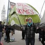 Homeless advocates face off with cops at Super Bowl City