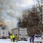 Cold delays interstate reopening after 193-car pileup