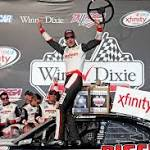 NASCAR: Logano battles his way to Talladega Xfinity win