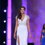 Miss Nebraska flashes TV land during Miss America pageant