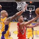 Rockets go off for 145 points in road blowout of Lakers
