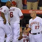 Relaxed Angels beat Texas, 8-5, but playoff roster decisions loom