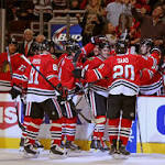 Niklas Hjalmarsson chips in offensively for a change