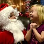 Santa Claus makes for happy hospital visit