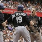 Giants blow another late lead, lose to Rockies