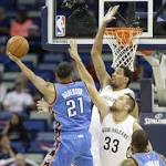 Anthony Davis leads with 28 points in Pelicans' 120-86 victory against Thunder