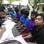 Rohingya taken off before Myanmar 'rescued' boat